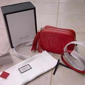Gucci Soho Disco Red Crossbody Bag